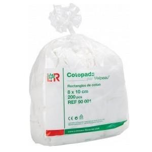LOHMANN & RAUSCHER - Cotopads par Velpeau rectangles de coton 8x10cm - 200 pièces