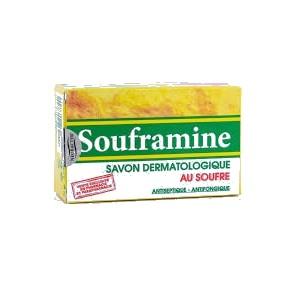 Souframine savon dermatologique au soufre 90g