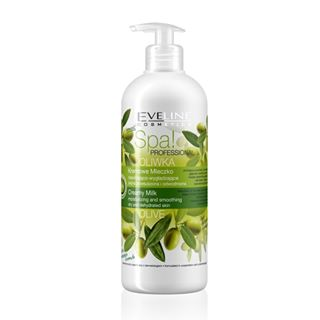 Eveline cosmetics spa professionel, lait hydratant corps aux olives vertes 500ml