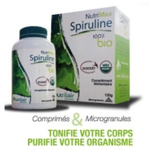 Nutrimax spiruline 100% bio, microgranules PM 60g