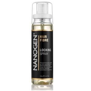 A locking mist plus Nanogen , lotion fixatrice des nanofibres et aquamatch, avec protections UV, resiste à l'eau