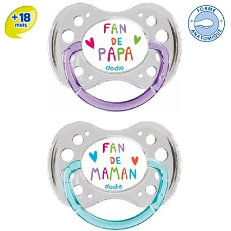 Dodie Sucette Anatomique Silicone +18 Fan44