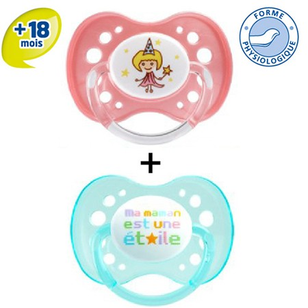 Dodie Sucette Physiologique Silicone +6 Duo Jour 50f