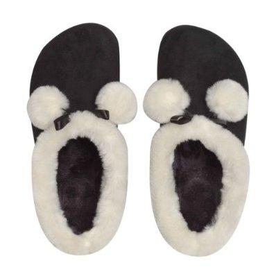 Sveltesse chaussons fourées minceur anticellulite noir