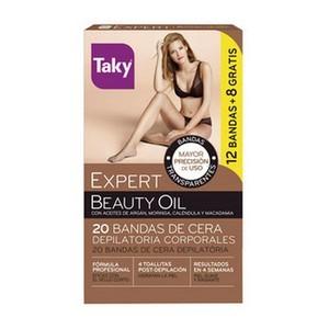 Taky Expert beauté huile cire bandes épilation boîte 20 pièces
