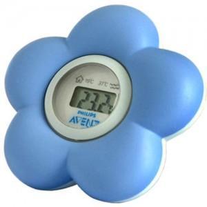 Avent Philips Thermomètre pour le bain et la Chambre bleu SCH550/20