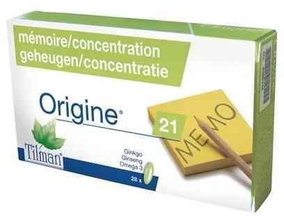 Origine 21 Mémoire et concentration 28 capsules