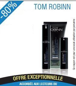 Promotion Tom Robinn Gel nettoyant visage 150ml+ Le gel de rasage transparent 150ml + Gel thermo-raffermissant amincissant 150 ml