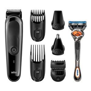 Braun Kit tondeuse polyvalente MGK3060 - kit de coupe de précision visage et cheveux 8-en-1.