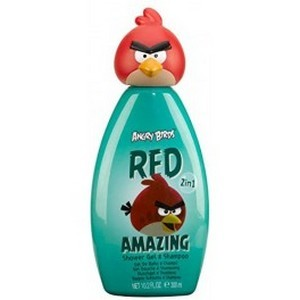 Air-Val Angry Bird Gel Douche + Shampooing 300ml Topper Red Réf : 5962