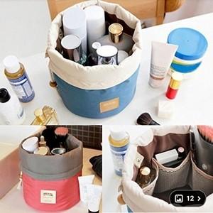 Trousse de toilette/Organisateur de voyage cosmétique avec cordon rembourré