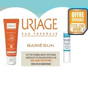 Offre Uriage Bariésun Crème solaire teintée claire spf 50+ (stick lèvre offert)