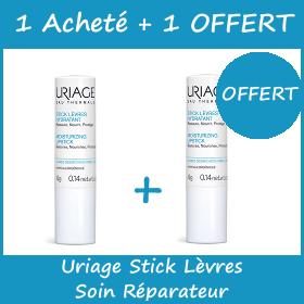 Offre Uriage Stick Lèvres Hydratant - Soin Réparateur 4g - 1 Acheté = 1 OFFERT