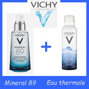Offre VICHY MINÉRAL 89 BOOSTER QUOTIDIEN FORTIFIANT ET REPEUPLANT 50ml+ Eau minerale Offerte 50 ml