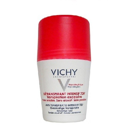 Vichy Détranspirant Intensif 72H Roll-on Contre la Transpiration Excessive 50 ml
