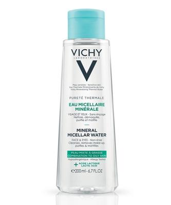 Vichy Pureté Thermale Eau Micellaire Minérale Visage Et Yeux Peau Mixte À Grasse Flacon 200ml