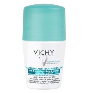 Vichy Traitement Anti-transpirant - Anti-traces Blanches et Jaunes 48H (Bille) 50ml