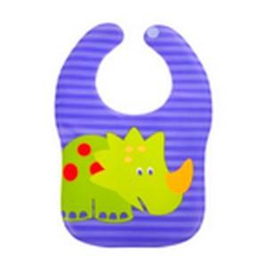 Baby bib violet dino bavoir en plastique waterproof filles