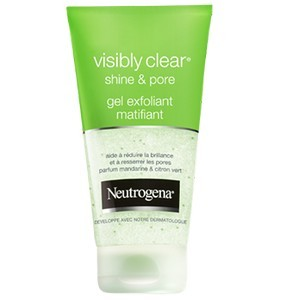 Neutrogena visibly clear® shine & pore gel exfoliant matifiant 150 ml