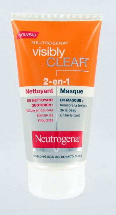 Neutrogena Visibly Clear 2 en 1 Nettoyant et Masque (150 ml)