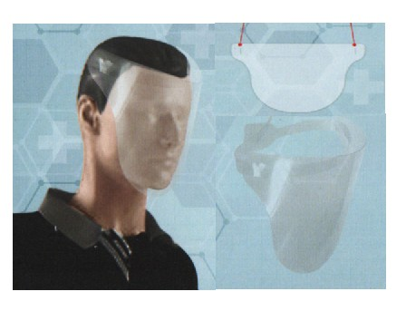Visière Ecran de protection visage réutilisable, stérilisable en PETG