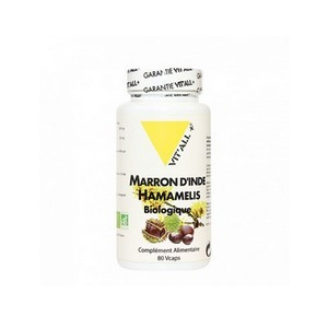 Vit'all+ Marron d'inde-hamamelis biologique 80 Capsules