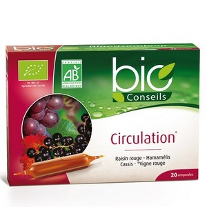 Yves Ponroy Circulation Bio-Hamamelis/raisin Rouge / Cassis 20 Ampoules