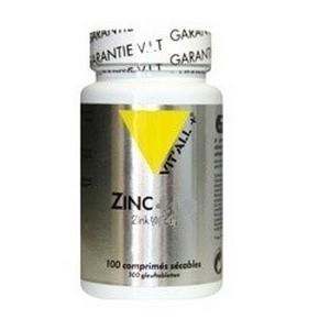 VIT'ALL+ Zinc 100 comprimés alimentaire