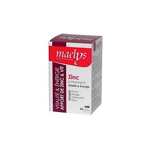 Maelys Zinc & Vitamines B Vitalité et énergie 30 gélules