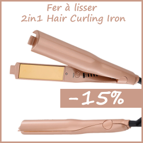 Promotion 2in1 Hair Curling IRON & Hair Straightener - -15%