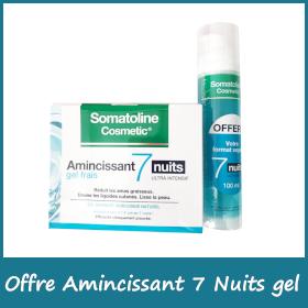 Offre Somatoline - Gel Frais 7 nuits + 100 ml Offert