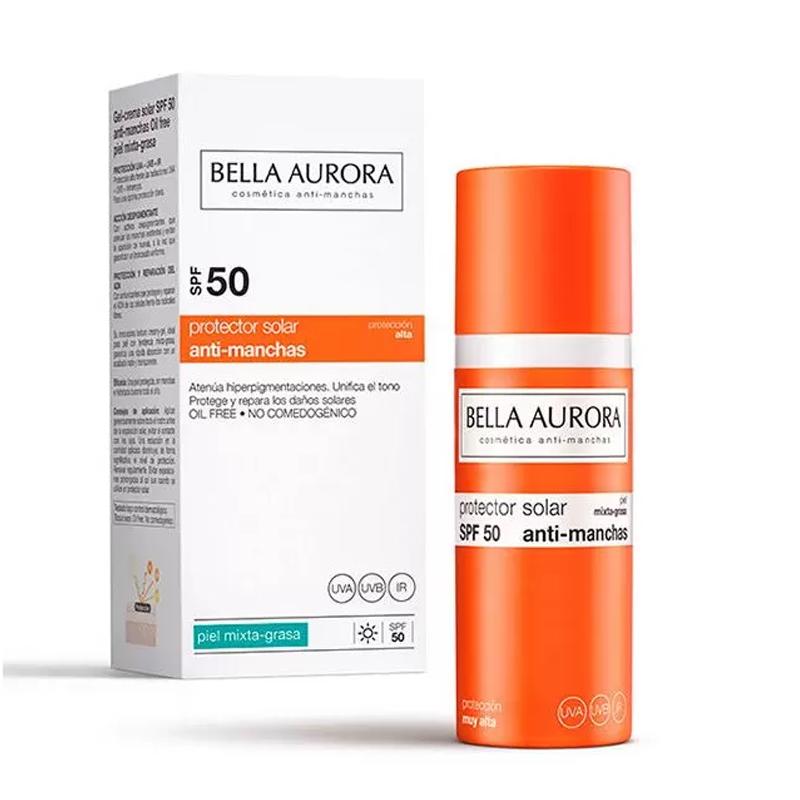 Bella Aurora ecran Spf 50 Peaux mixte-Grasse 50 ml