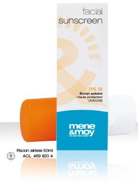 Menemoy Facial Sunscreen Emulsion transparente FPS 30 (50 ml)
