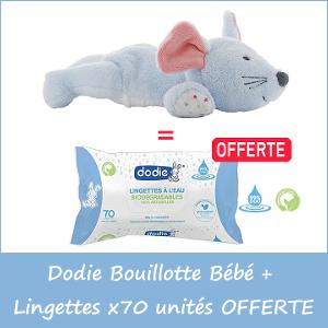 Offre Dodie Bouillotte Bébé Aux Pépins De Raisins +6Mois + Lingettes à L'eau Biodégradables x70 unités OFFERTE