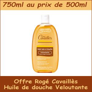 Huile de douche Veloutante Rogé Cavaillès 750ml au prix de 500ml