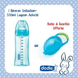 Offre Pack Biberon Initiation+ 330ml Lagoon + Boite à Sucette Offerte