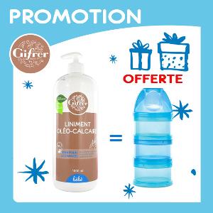 Offre Pack GIFRER Liniment Oléo-Calcaire Huile Olive 900ml + Dodie Boite Doseuse Garçon Offerte