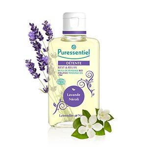 Puressentiel Huile de massage bio détente lavande / Néroli 100ml