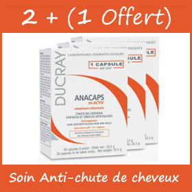 Offre Ducray Anacaps Progressiv 2 x 30 Gélules + 30 Gélules Offertes