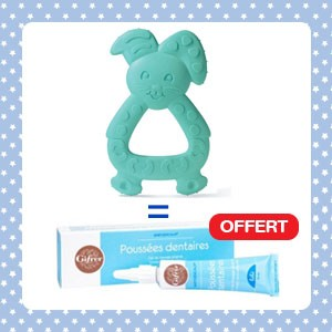 Pack Dodie Anneau de dentition TEETHER (+4m)+ Babygencalm Gifrer OFFERT