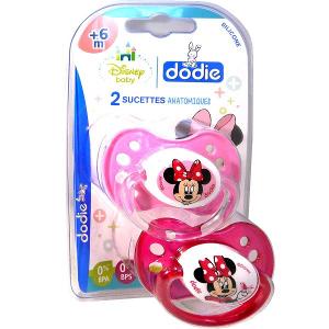 """dodie 1 Sucette +6 mois """"DUO MINNIE"""" avec anneau N°A64"""