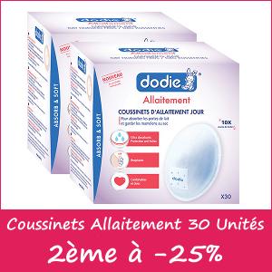 Offre Dodie Coussinets d'allaitement Adhésif Jour X30, lot de 2, le 2ème à -25%