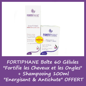 OFFRE FORTIPHANE 60 Gélules + Shampooing 100ml OFFERT