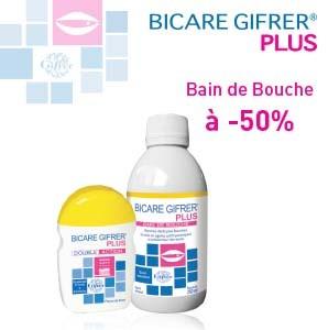 Offre GIFRER Poudre blancheur (60 grs) + Bain de bouche (250 ml) à -50%