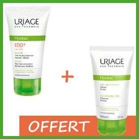 Offre Uriage Hyséac Solaire SPF50+ (50ml) + Hyséac gel Nettoyant 150ml Offert