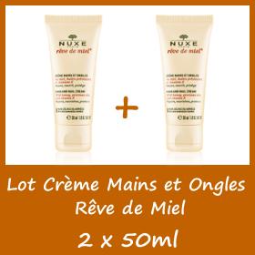 Lot Nuxe Rêve de Miel Crème mains et ongles - 2 x 50ml