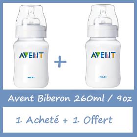 Offre Avent Biberon 260 ml - 1 Acheté + 1 Offert