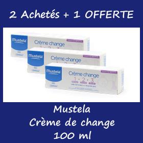 Offre Mustela Crème de Change 100 ml - 2 Achetées + 1 Offerte