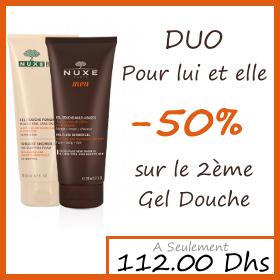 Offre Nuxe Body Gel Douche Fondant 200ml + Gel Multi-Usages 200ml - -50% sur le 2ème