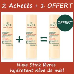 Offre Nuxe Stick Hydratant pour Lèvres desséchées ou gercées - 2 Achetés + 1 OFFERT